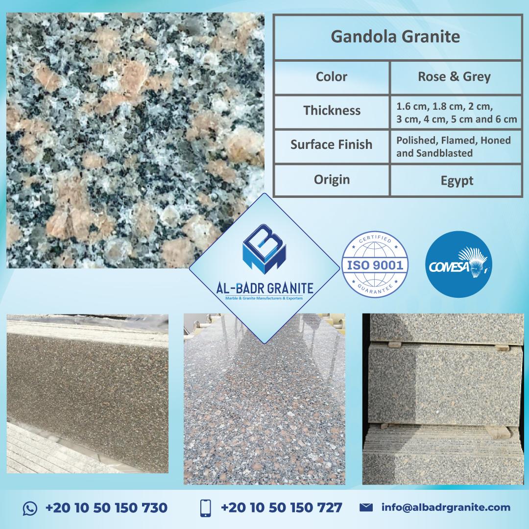 Dark Grey and Rose Slabs   Gandola Granite