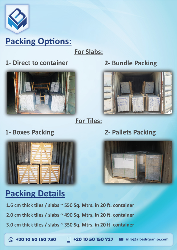 Granite Packing Types for Export